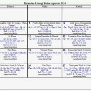 Kalender Liturgi Katolik 2020 Bulan Agustus Lengkap